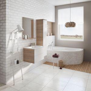 Podwieszane meble łazienkowe z konceptu Rosa marki Ravak. Fot. Ravak