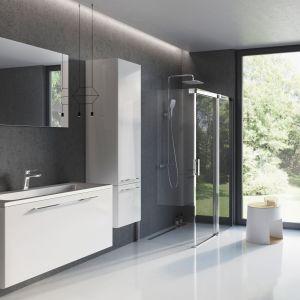 Białe meble łazienkowe z konceptu Ring marki Ravak. Fot. Ravak