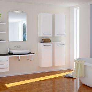 Białe meble łazienkowe z kolekcji Atlantic marki Devo. Fot. Devo