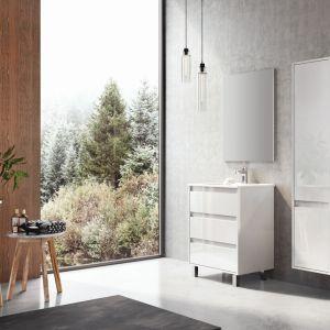 Białe meble łazienkowe z kolekcji Desi Plus marki Elita. Fot. Elita
