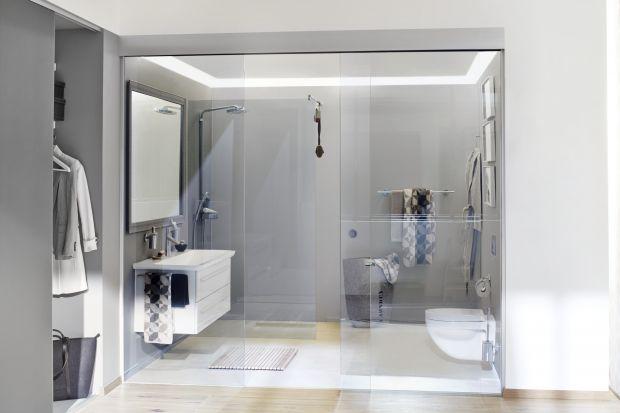 Nowoczesna łazienka: szkło jak z filmu science-fiction