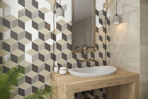 Strefa umywalki to wizytówka całej łazienki. Dlatego warto ścianę nad blatem łazienkowym wykończyć płytkami, które wyróżnią ją na tle całej łazienki.