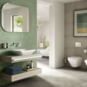 Meble łazienkowe Tonic II w wersji podwójna obudowa blatu. Fot. Ideal Standard