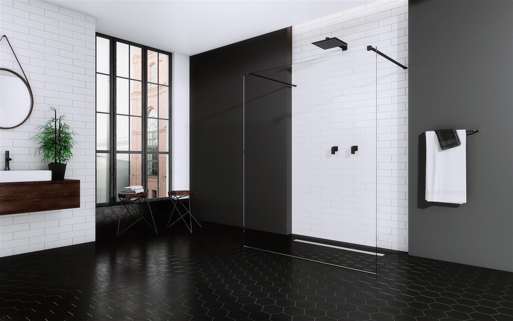Kabina prysznicowa Modo New Black marki Radaway z czarnymi profilami. Fot. Radaway