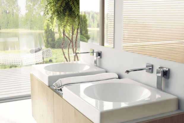 Baterie umywalkowe możemy rozróżnić w oparciu o sposób montażu. Dziś prezentujemy 5 estetycznych modeli schowanych w ścianie.