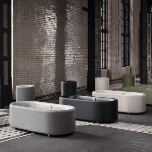Wanna wolnostojąca BetteLux Oval Couture z tekstylnym wykończeniem wielokrotnie była nagradzana za wzornictwo. Fot. Bette