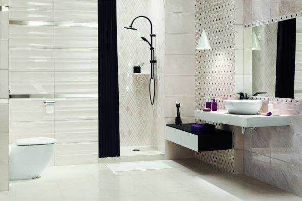 Jasne kolory i geometryczne kształty sprawiają, że wnętrze staje się miejscem, które kojarzy się z odprężeniem. I taka właśnie powinna być współczesna łazienka – oazą relaksu.