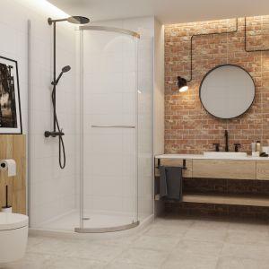 Aranżacja łazienki w stylu industrialnym według Ceramiki Paradyż z płytkami z kolekcji Loft. Fot. Ceramika Paradyż