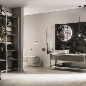 Koncepcja urządzenia łazienki w stylu industrialnym Open Workshop zaproponowana przez markę Diesel Home i Scavolini. Fot. Scavolini