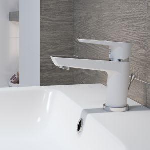 Stojąca bateria umywalkowa Mille White marki Cersanit. Fot. Cersanit