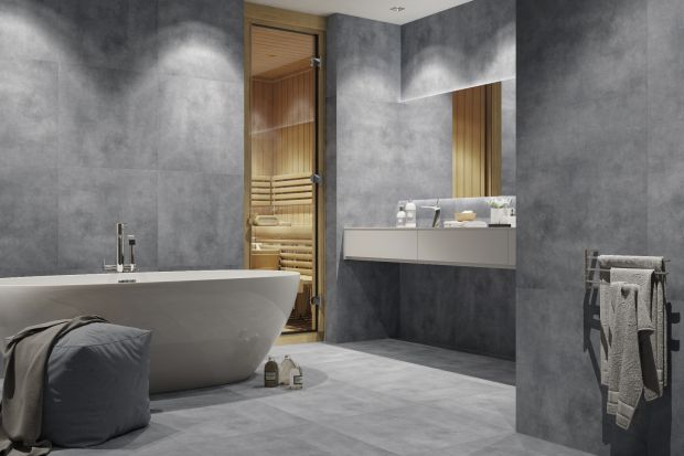 Aranżacje total look, choć mogą wydawać się nieco trudne do poskromienia, oferują spektakularne efekty wizualne. Salon kąpielowy w szarościach, bieli, a może w kolorach sepii?
