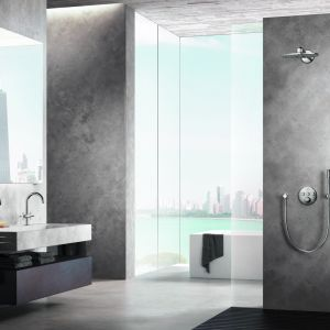 Podtynkowy zestaw prysznicowy z deszczownią Atrio. Fot. Grohe