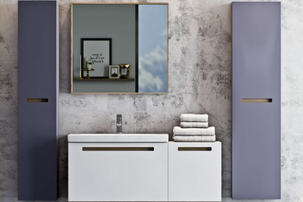 Szarość to jeden z najczęściej wybieranych kolorów do aranżacji łazienek. Zobaczcie jak prezentuje się na frontach meblowych!