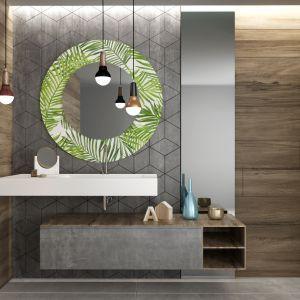 Lustro łazienkowe z nadrukiem farbami ceramicznymi: do dyspozycji klientów jest 200 gotowych wzorów. Fot. Glasimo