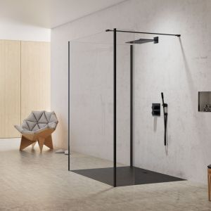 Kabina prysznicowa typu walk-in New Modus Black marki New Trendy. Fot. New Trendy