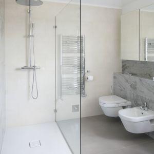 Prysznic w narożniku. Proj. Ventana. Fot. Bartosz Jarosz