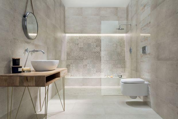 Szare płytki ceramiczne wciąż należą do najpopularniejszych okładzin ściennych i podłogowych w łazienkach. Zobaczcie 15 modnych kolekcji.
