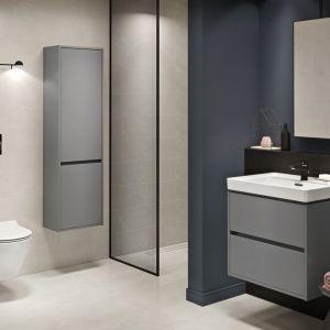 Minimalistyczna łazienka pomoże nam utrzymać czystość. Na zdjęciu kolekcja Crea. Fot. Cersanit