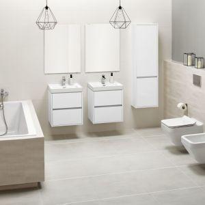 Proste linie i minimalistyczne formy to klucz do czystej łazienki. Na zdjęciu kolekcja Crea. Fot. Cersanit