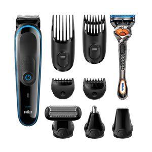 Wielofunkcyjny zestaw do strzyżenia MGK 3080 marki Braun to kompletne urządzenie do stylizacji włosów na głowie, twarzy i ciele, składające się z 9 narzędzi pielęgnacyjnych w jednym. Cena: 319 zł. Fot. Braun