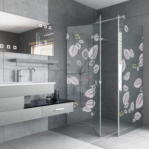 Kabina prysznicowa Lorenzo z dekorem na szkle marki Glasimo. Fot. Glasimo