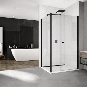 Kabina prysznicowa z czarnymi profilami z serii Solino marki SanSwiss. Fot. SanSwiss