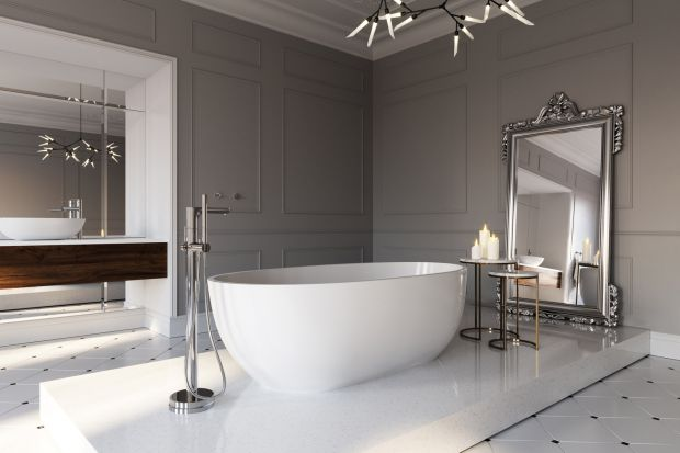 Jak urządzić łazienkę w konwencji salonu kąpielowego, w której panować będzie francuski szyk? Mamy dla Was gotową propozycję!