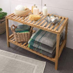 Idealny do domowego SPA: bambusowy regał do przechowywania; 50x35x68 cm. Cena: 79,99 zł. Fot. KiK