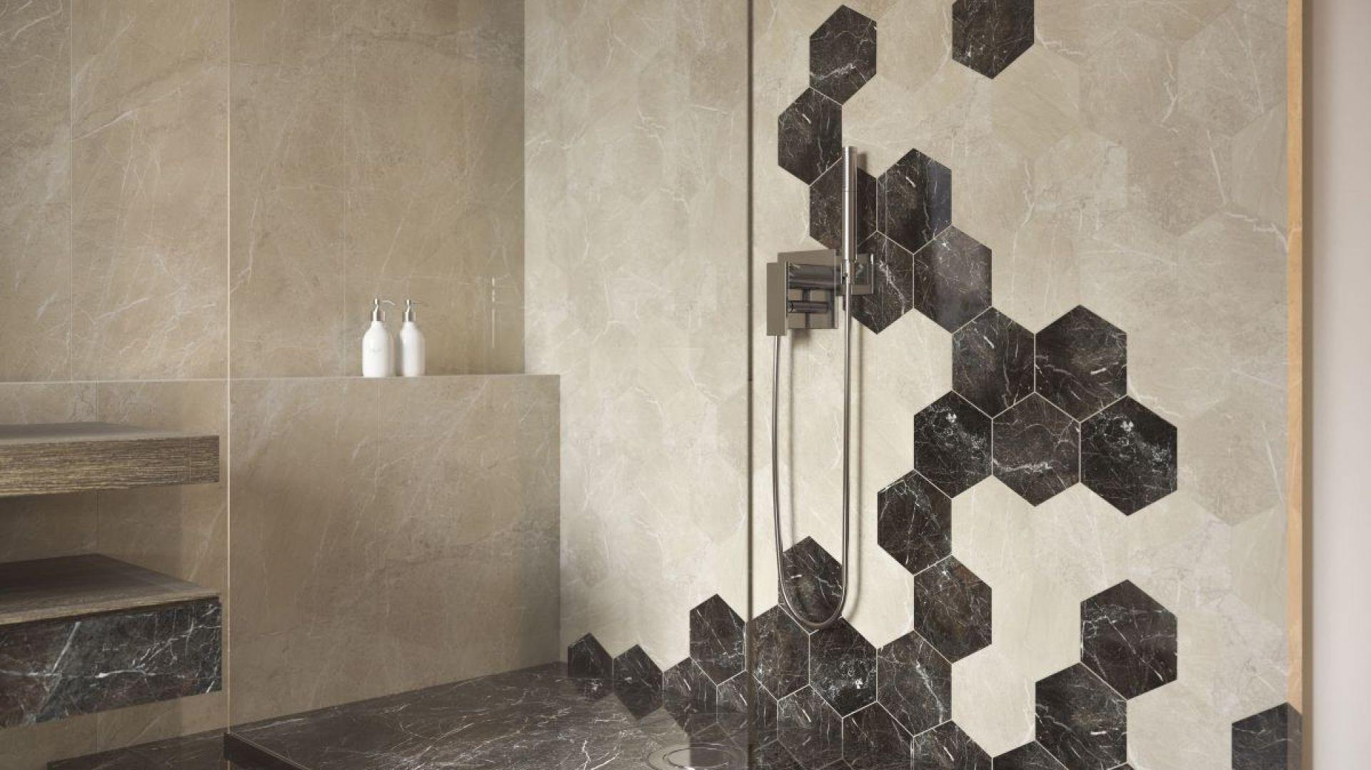 Heksagonalne płytki ceramiczne z kolekcji Tosi marki Paradyż My Way. Fot. Ceramika Paradyż