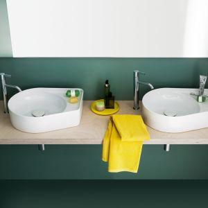 Do efektownej strefy umywalki:  umywalka z serii Val marki Laufen. Fot. Laufen