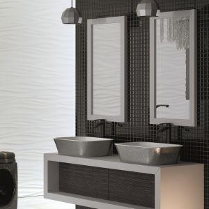 Do efektownej strefy umywalki: umywalki w wykończeniu Glam marki Besco. Fot. Besco