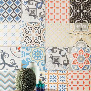Płytki ceramiczne patchworkowe z kolekcji Unit Plus. Fot. Tubądzin