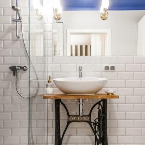 Projekt łazienki z nutą retro. Proj. KODO Projekty i Realizacje