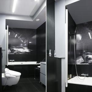 Mała łazienka z wanną. Proj. Agata Piltz. Fot. Bartosz Jarosz