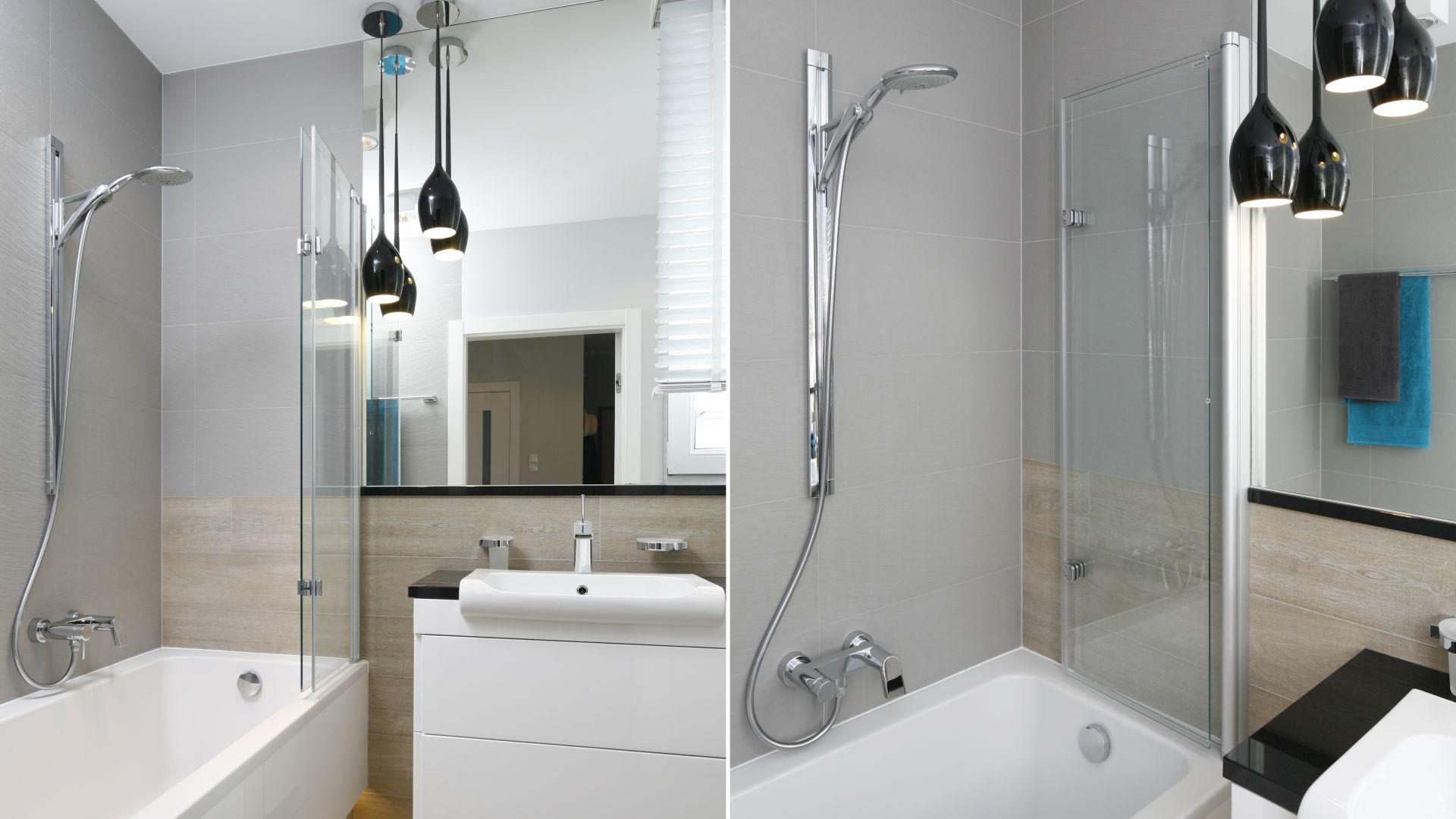 Mała łazienka z wanną. Proj. Joanna Morkowska-Saj. Fot. Bartosz Jarosz