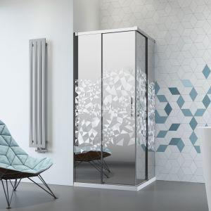 Kabina prysznicowa z grawerem na szkle Mirror. Fot. Radaway