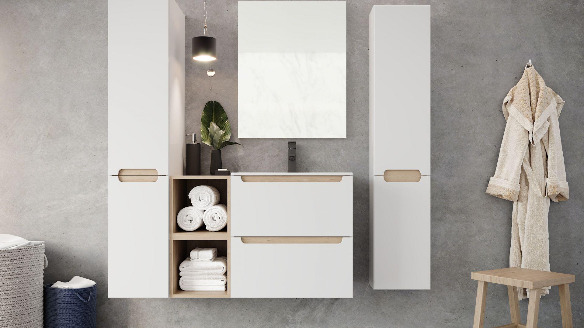Szafka pod umywalkę z kolekcji mebli łazienkowych Stilla marki Ø NAS. Fot. Deftrans