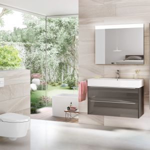 Szafka pod umywalkę z kolekcji łazienkowej Inspira marki Roca. Fot. Roca