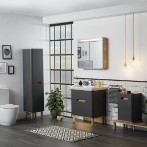Szafka pod umywalkę z kolekcji mebli łazienkowych Sento marki VitrA. Fot. VitrA