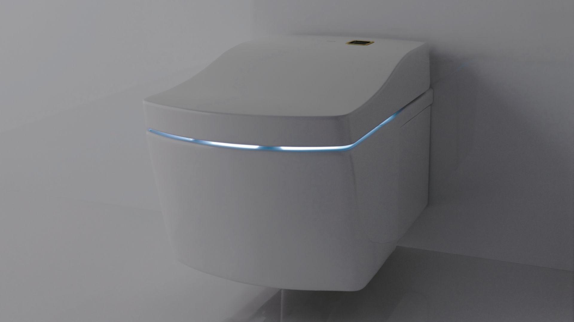 Toaleta myjąca zintegrowana z oświetleniem Neorest Actilight marki TOTO. Fot. TOTO