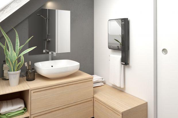 Nowoczesna łazienka: inteligentny grzejnik zintegrowany z lustrem