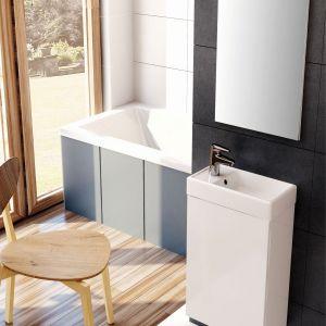 Set Young Basic marki Elita składa się z szafki podumywalkowej i ceramicznej umywalki o kompaktowym wymiarach. Fot. Elita