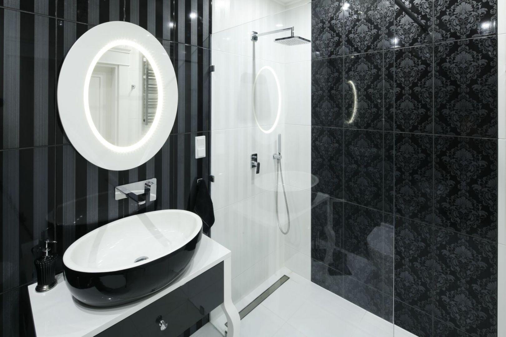 Pomysł na lustro w łazience. Proj. Katarzyna Mikulska-Sękalska. Fot. Bartosz Jarosz