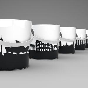 Umywalki z serii Bucket marki Scarabeo Ceramiche. Fot. Scarabeo Ceramiche