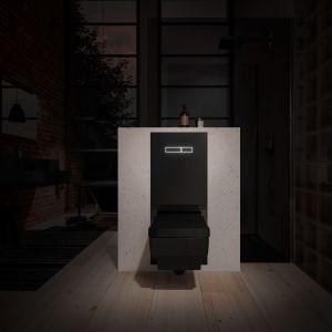 Terminal WC TECElux w czarnym kolorze. Fot. TECE