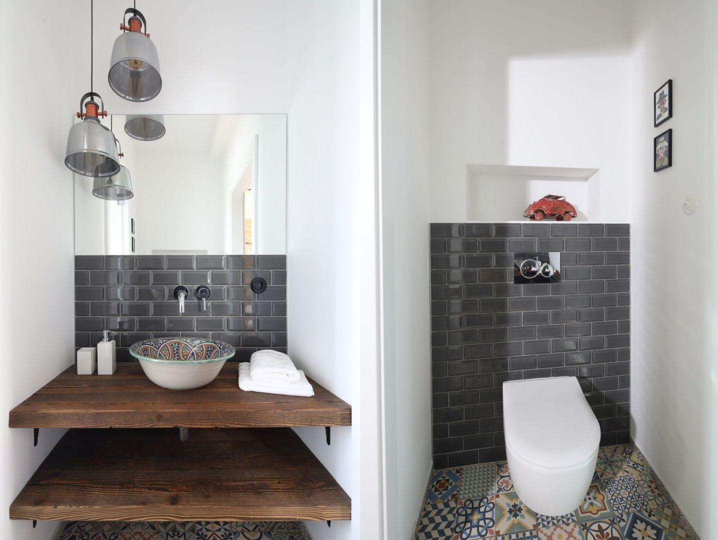 Toaleta dla gości. Proj. Maciejka Peszyńska-Drews. Fot. Bartosz Jarosz