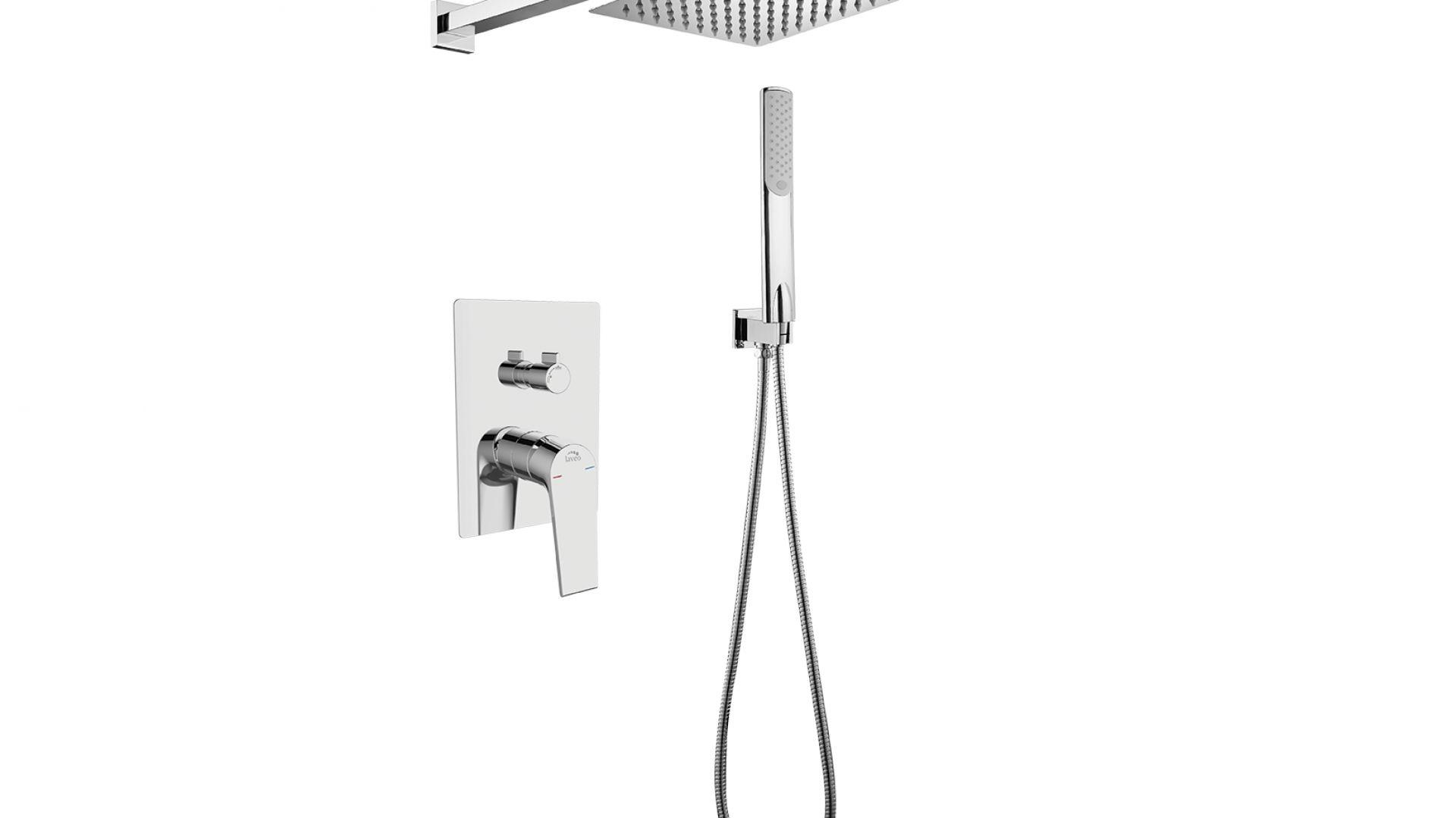 Zestaw prysznicowy z podtynkową baterią Plato. Fot. Plato