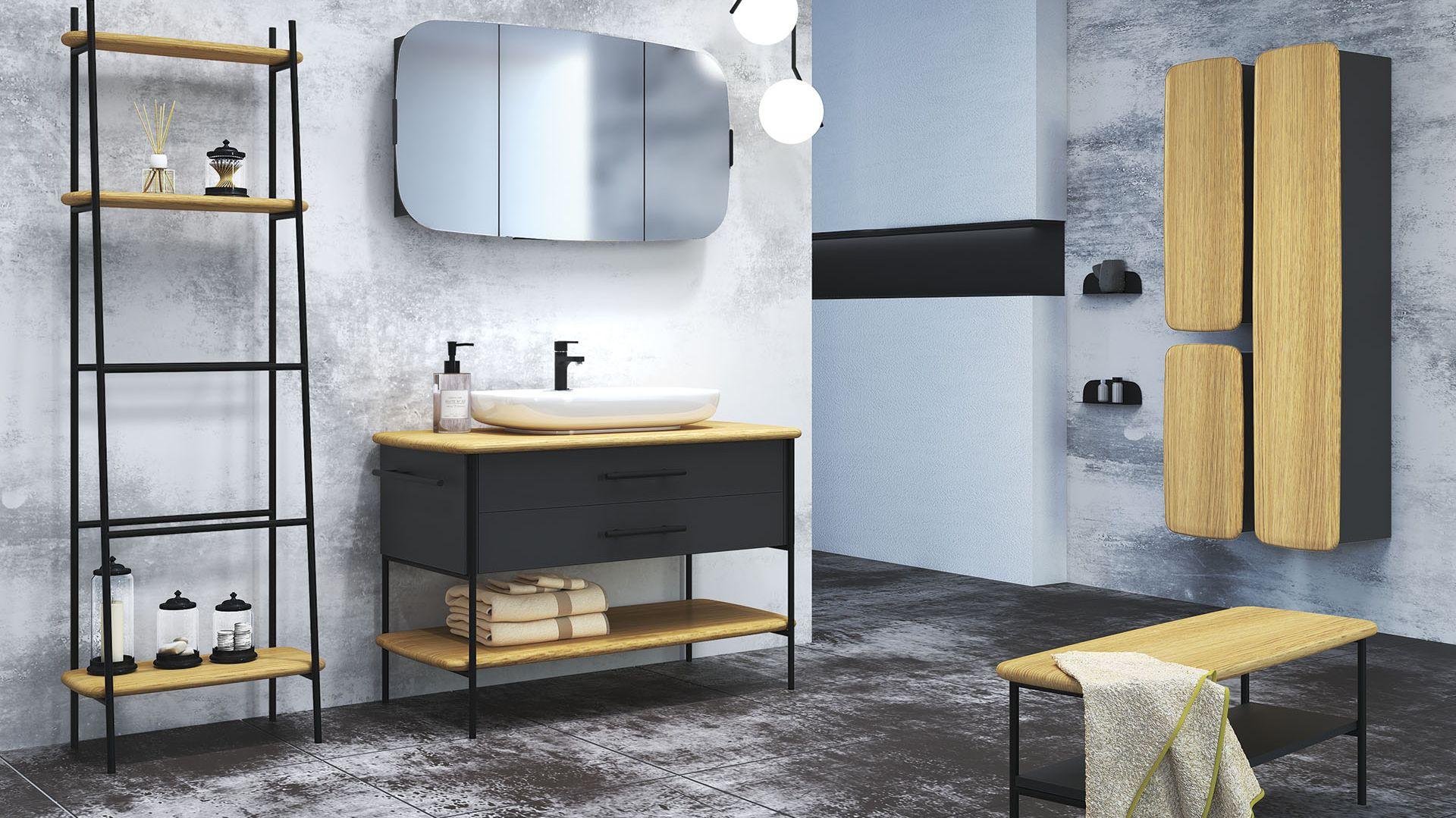 Nowoczesne meble łazienkowe z kolekcji Oval marki Devo. Fot. Devo
