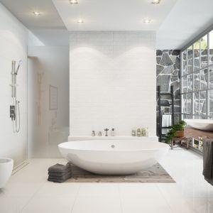 Pomysł na strefę umywalki: bateria umywalkowa stojąca nablatowa Veneto VerdeLine. Fot. Ferro