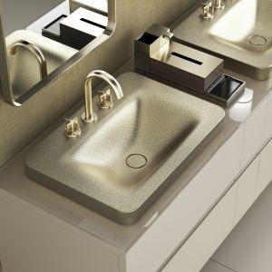 Bateria umywalkowa z serii Roca Armani. Fot. Roca